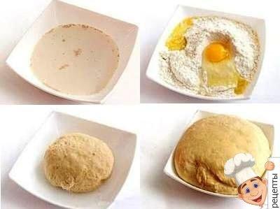 тесто для пирожков с сосиской