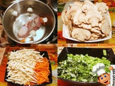 рецепт сырного супа на мясном бульоне
