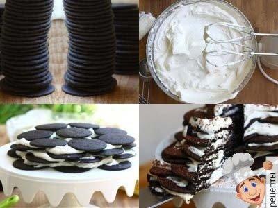 рецепт торта из шоколадного печенья