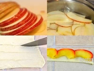 яблочные розочки из слоеного теста. Как сделать