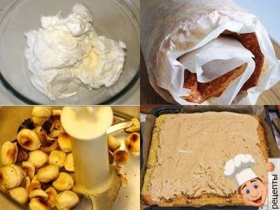 Как сделать рулет из орехов