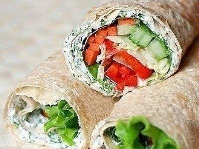 рецепт постного рулетаиз лаваша, постныйлаваш с овощами