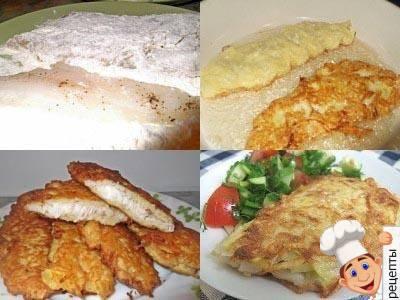 приготовить жареная рыба в картофельной корочке