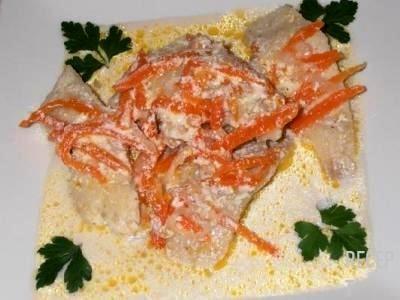рыба в сметане на сковороде рецепт