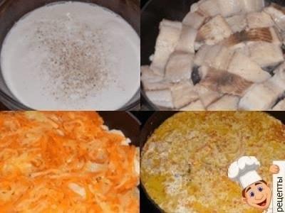 рыба в сметанном соусе на сковороде