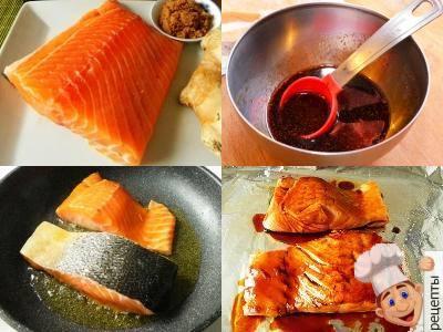 красная рыба в соевом соусе в духовке