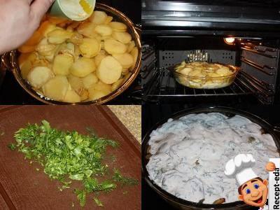 рыба запеченная с картофелем в духовке