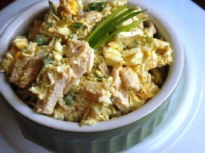 рецепт салат с пекинской капустой, курицей и огурцом