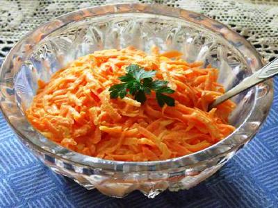 салат из моркови с майонезом и чесноком