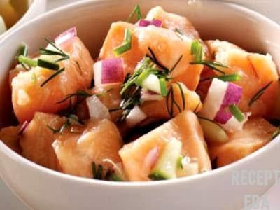 севиче нежное блюдо из лосося
