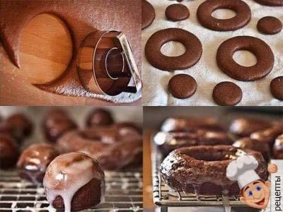 шоколадные пончики рецепт
