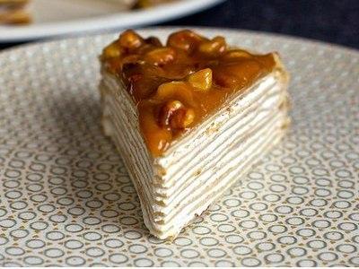 сладкий домашний блинный торт с сыром