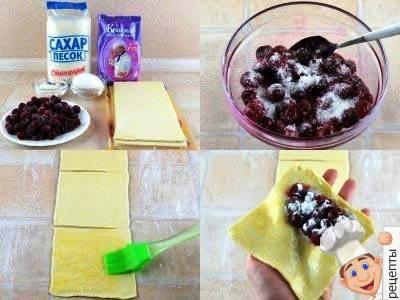 слойки с вишней. рецепт, как приготовить