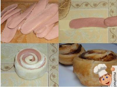 Сосиски в тесте рецепт косичка с фото