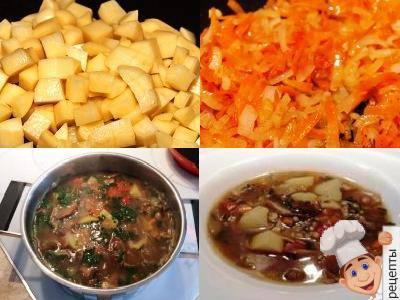 как приготовить суп из сушеных грибов с перловкой, рецепт
