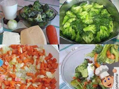 рецепт супа пюре из капусты брокколи
