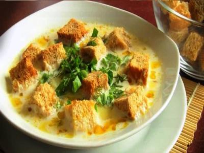 суп с плавленным сыром и колбасой рецепт