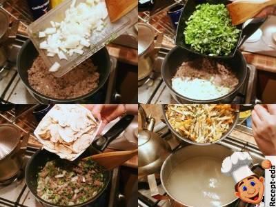 суп с шампиньонами и сыром плавленым