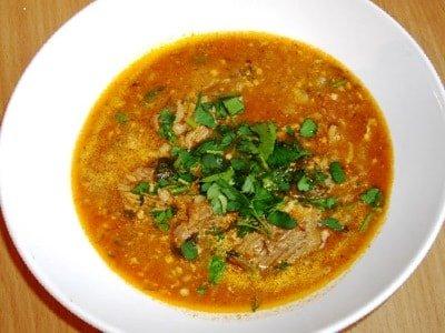 суп харчо с помидорами и рисом
