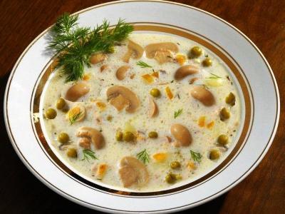суп с шампиньонами и курицей, рецепт