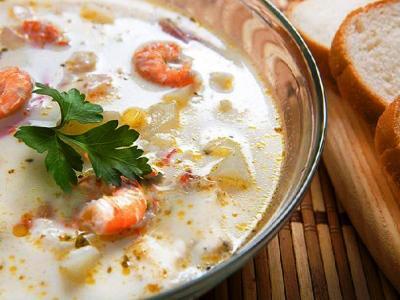 сырный суп с креветками рецепт с плавленным сыром
