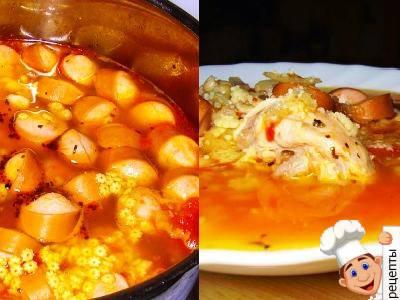 итальянский суп с сосисками, рецепт