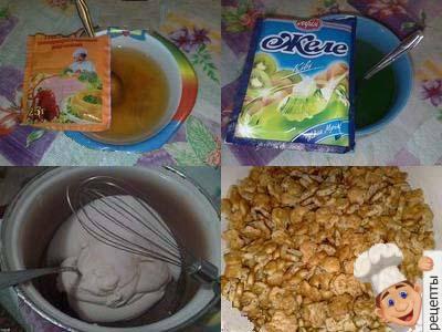 торт с желе без выпечки
