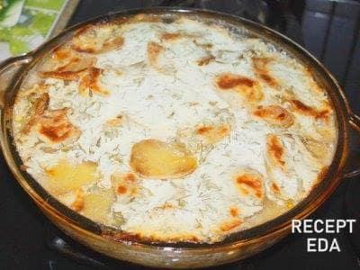 треска запеченная с картофелем