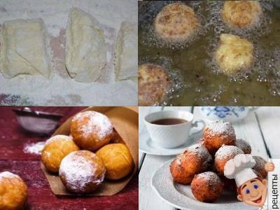 творожные шарики, жареные в масле, рецепт