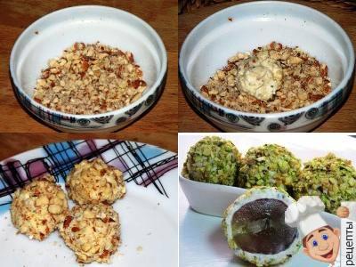 виноград в сыре и орехах