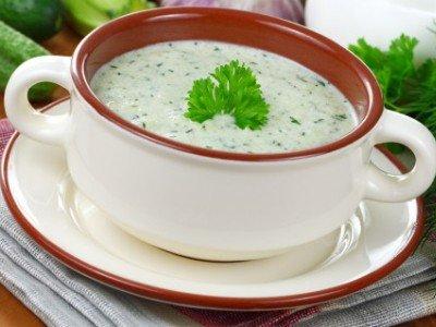 летний йогуртовый суп