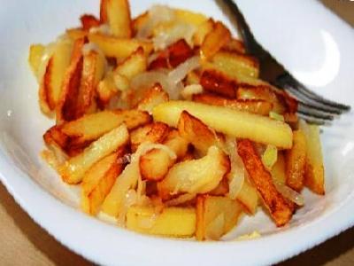 жареная картошка с луком рецепт