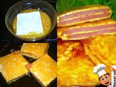колбаса в сырной оболочке, в сырном кляре