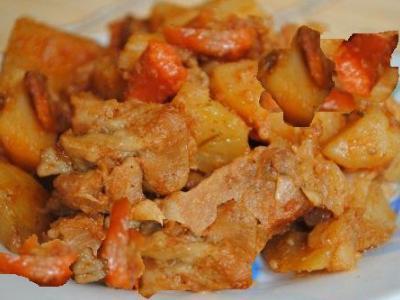 как готовить жаркое свинины картошки мультиварке