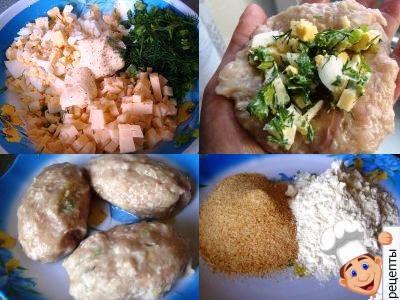 зразы из индейки рецепт, зразы из индейки с яйцом