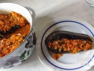Фаршированные баклажаны на зиму: с морковкой и болгарским перцем, с зеленью и чесноком, с капустой