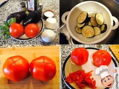 баклажаны запеченные в духовке с помидорами сыром