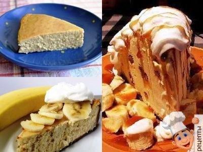 банановый чизкейк с творогом рецепт
