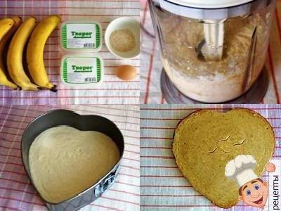 банановый чизкейк с творогом с выпечкой