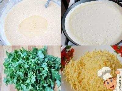 сырные блины с зеленью, рецепт