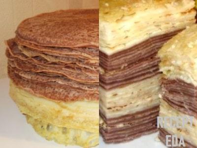 блинный торт со сгущенкой и сметаной