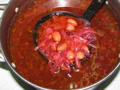как варить борщ с фасолью, рецепт