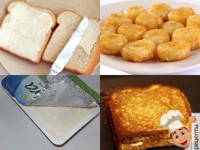 горячие бутерброды с бананом