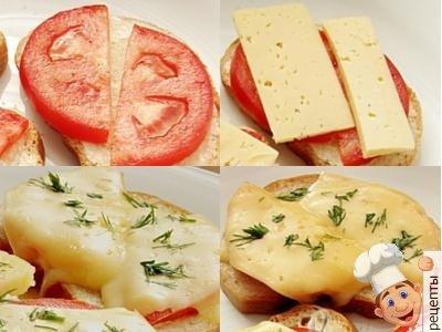 бутерброды с помидорами и сыром в духовке