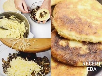 как приготовить картофельные зразы с грибами пошаговый рецепт с фото