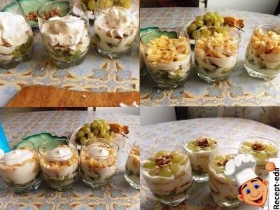 зефирный десерт с фруктами