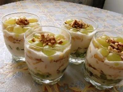 десерт из зефира со сметаной