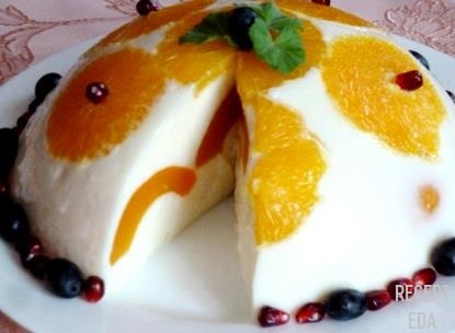 десерт с йогуртом и фруктами