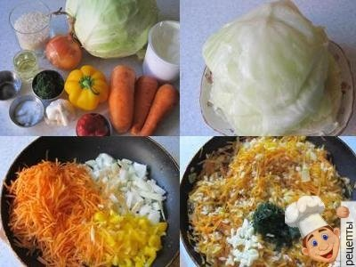 диетические голубцы, рецепт голубцов с овощами