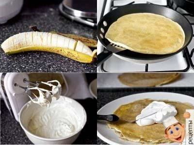 блинный торт со сливочным сыром маскарпоне